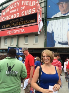 In front of Wrigley Field